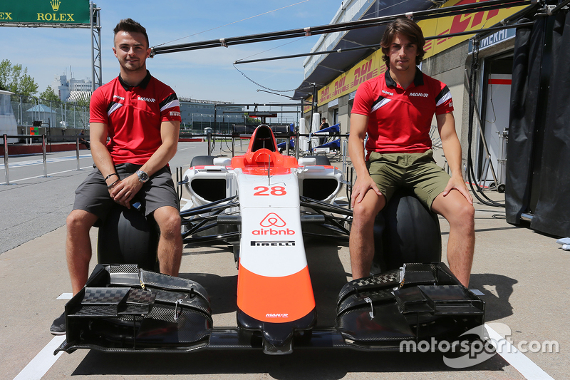 Roberto Merhi, Manor F1 Team and Will Stevens, Manor F1 Team as the team reveal airbnb as sponsors