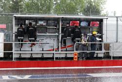 Sahara Force India F1 Team, Kommandostand im Regen