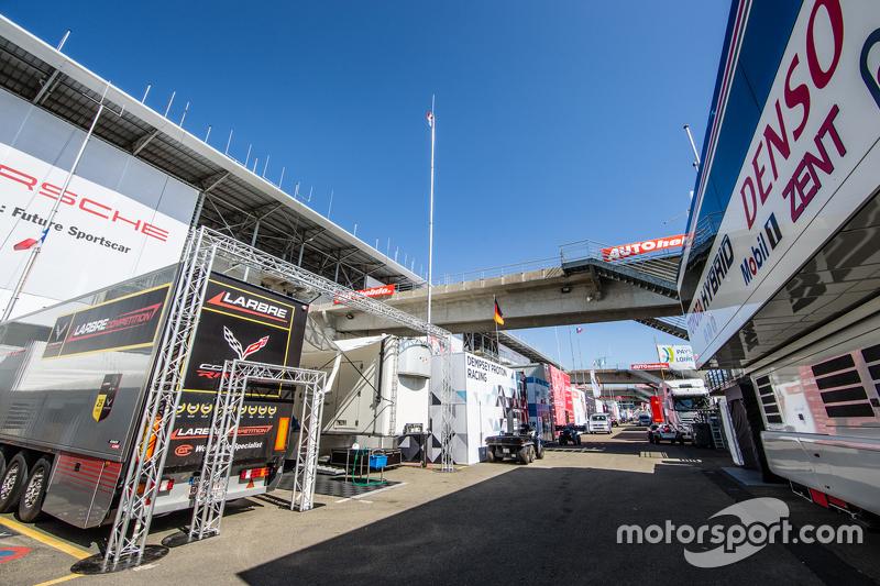Le Mans, Fahrerlager