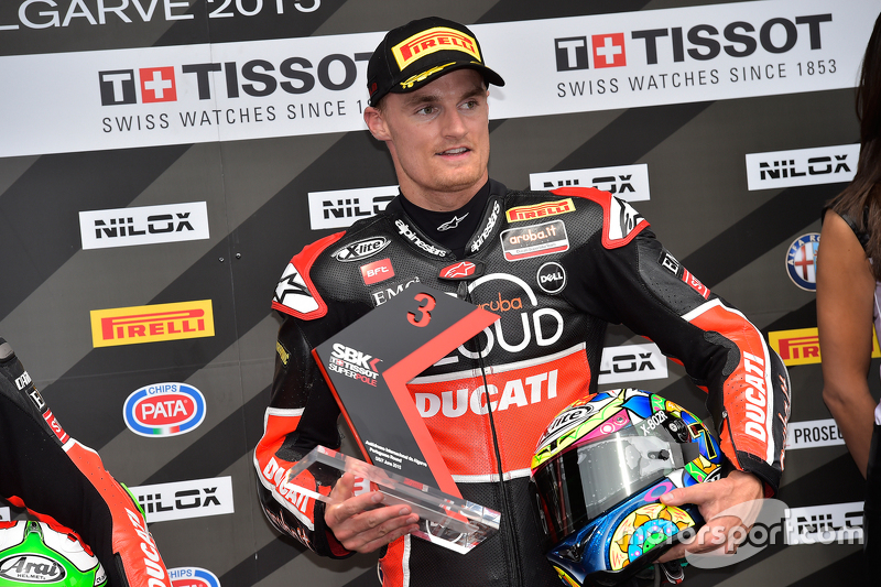 Chaz Davies Ducati Superbike Team, troisième de la Superpole