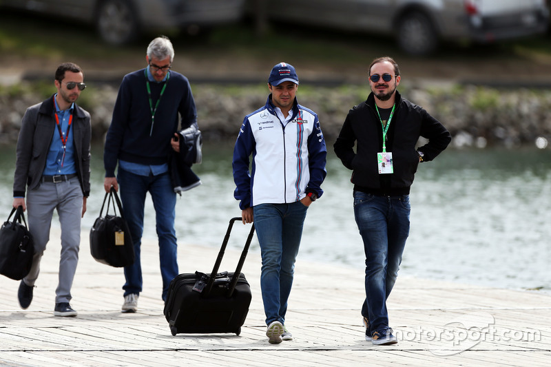 Felipe Massa, Williams, mit Bruder Dudu Massa