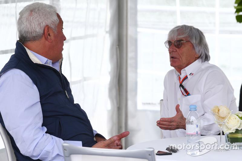 Lawrence Stroll, Geschäftsmann, mit Bernie Ecclestone