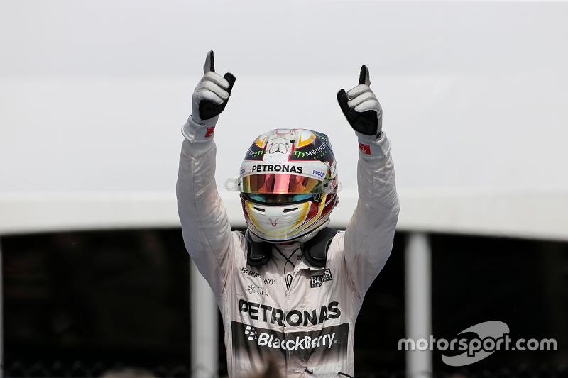Podium: First place Lewis Hamilton, Mercedes AMG F1