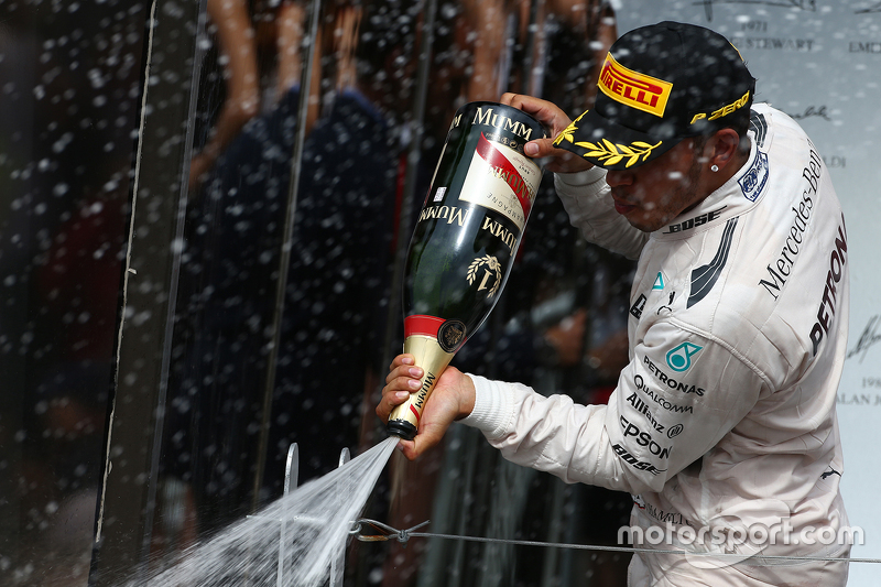 Podium: First place Lewis Hamilton, Mercedes AMG F1
