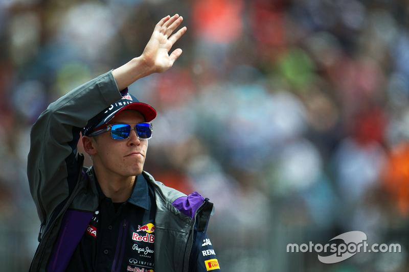 Daniil Kvyat, Red Bull Racing on the drivers parade