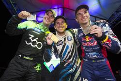 Podium: El ganador, Scott Speed, segundo lugar, Steve Arpin, tercer lugar, Sebastian Eriksson