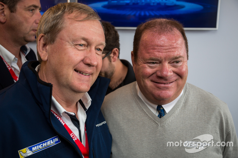 Pascal Couasnon, Director of MICHELIN Motorsport with Chip Ganassi