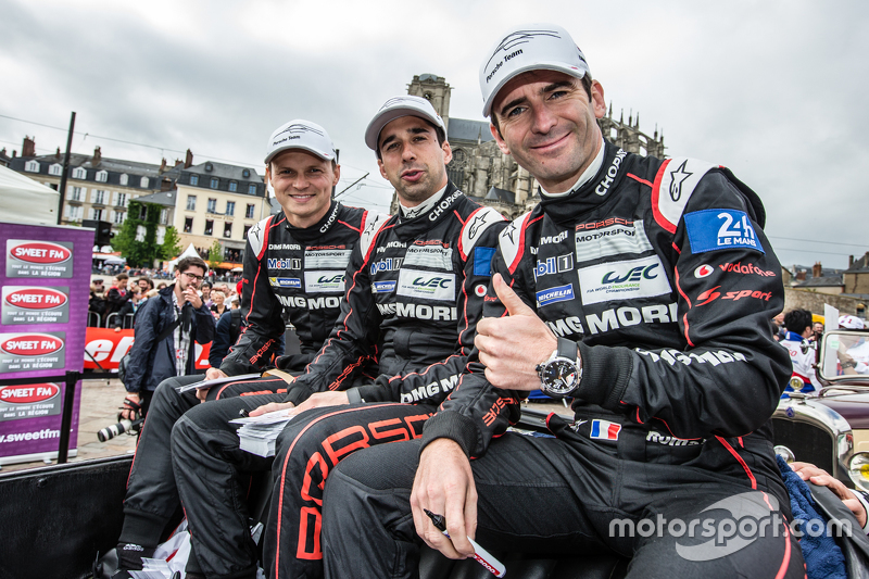 Pole winners #18 Porsche Team Porsche 919 Hybrid: Marc Lieb, Neel Jani and Romain Dumas