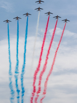 La Patrouille de France au-dessus du Circuit de la Sarthe