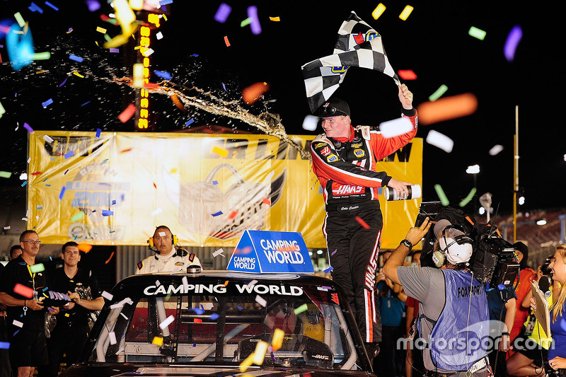 Race winner Cole Custer, JR Motorsports Chevrolet