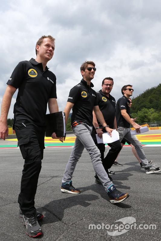 Romain Grosjean, Lotus F1 Team, Julien Simon-Chautemps, Romain Grosjean race engineer, Lotus F1 Team