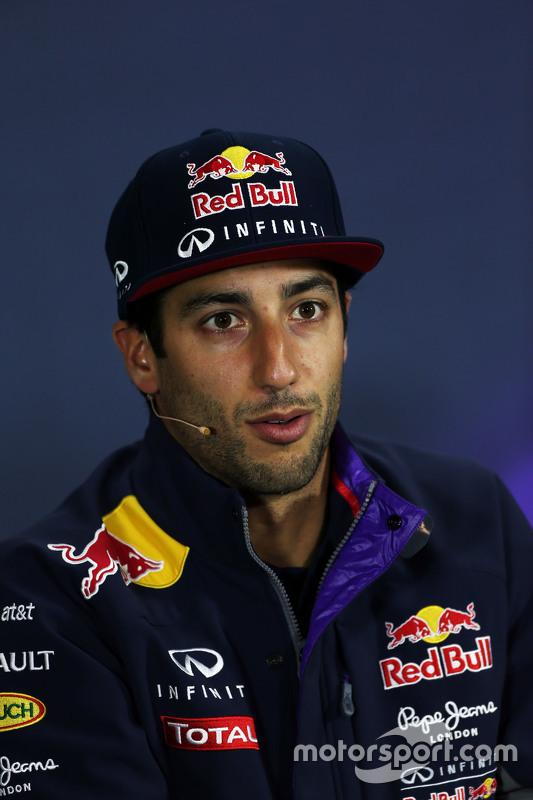 Daniel Ricciardo, Red Bull Racing na conferência de imprensa da FIA