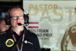 Гоночный инженер Lotus F1 Марк Слейд