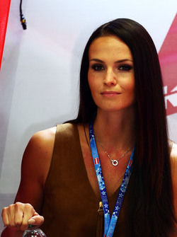 Minttu Virtanen, girlfriend of Kimi Raikkonen, Ferrari