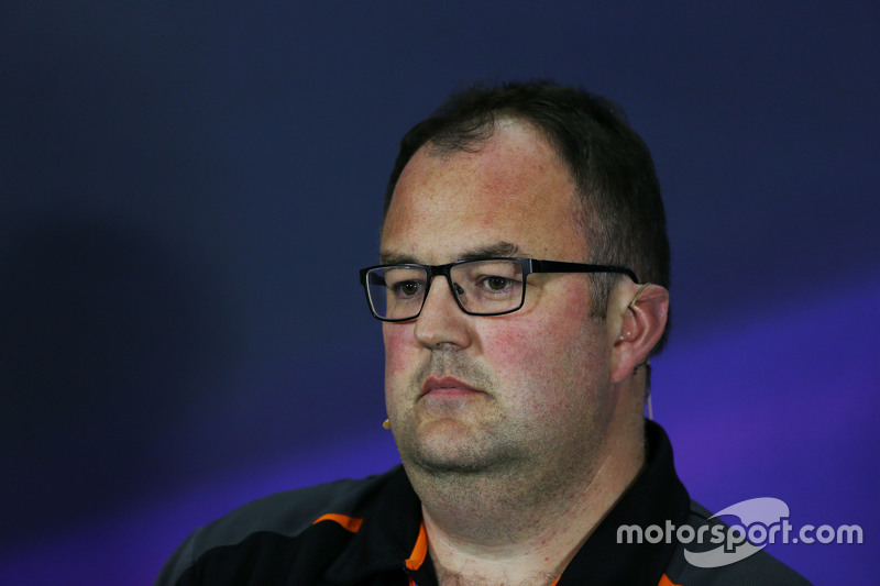 Tom McCullough, Sahara Force India F1 Team Chief Engineer dalam Konferensi Pers FIa