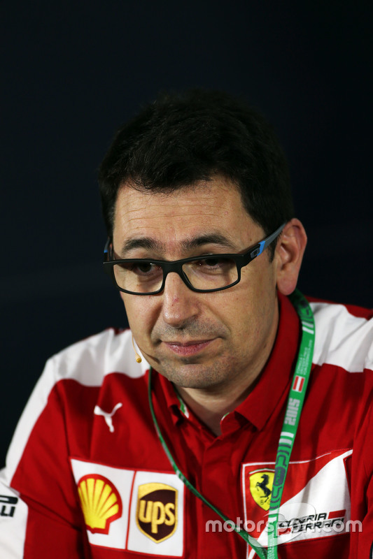 Mattia Binotto, Ferrari Race Engine Manager di FIA Press Conference