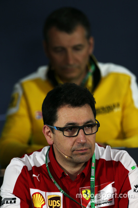 Mattia Binotto, Ferrari Race Engine Manager in de FIA persconferentie