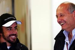 Fernando Alonso, McLaren with Ron Dennis, McLaren Executive Chairman