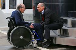 Frank Williams, Titolare Williams Team con Ron Dennis, Presidente Esecutivo McLaren