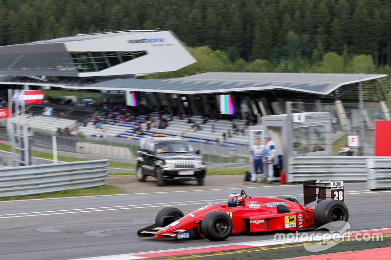 Gerhard Berger, Ferrari F1/87-88C at the Legends Parade