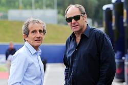 Gerhard Berger y Alain Prost