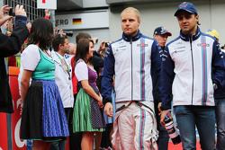 Valtteri Bottas, Williams com Felipe Massa, Williams no desfile dos pilotos