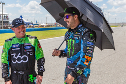 Jeff Ward, Chip Ganassi Racing Ford et Ken Block, Hoonigan Racing Division Ford