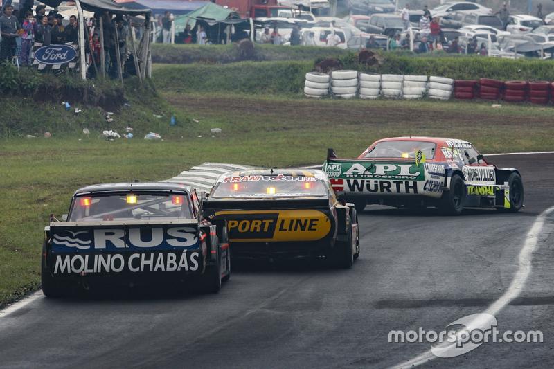 Juan Martin Trucco, JMT Motorsport, Dodge; Leonel Pernia, Las Toscas Racing, Chevrolet, und Emanuel Moriatis, Alifraco Sport, Ford