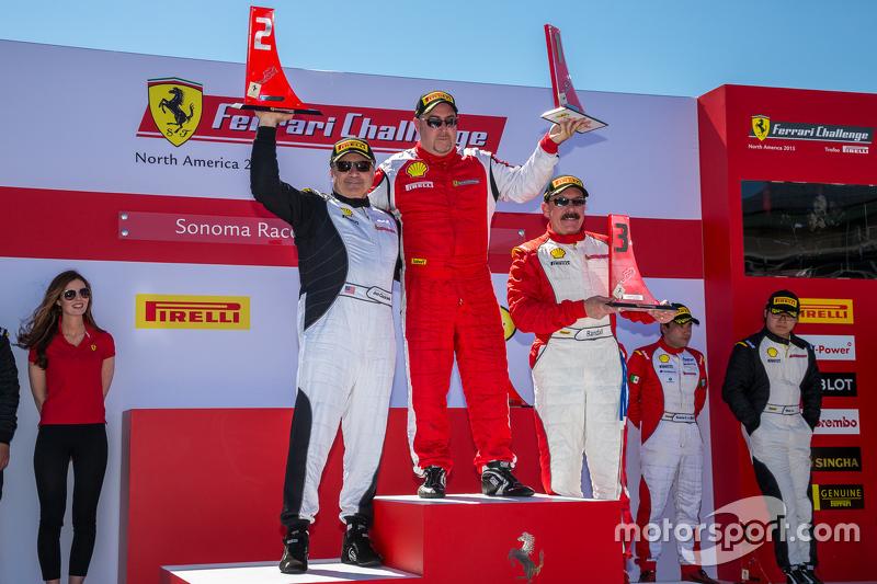 Podium: 1. #105 Miller Motorcars, Ferrari 458: Rodney Randall, 2. #177 Miller Motor Cars, Ferrari 45