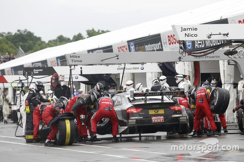 Boxenstopp für Adrien Tambay, Audi Sport Team Abt Sportsline, Audi RS 5 DTM