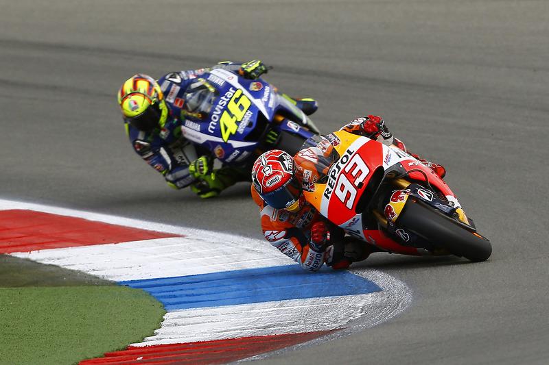 Marc Marquez, Repsol Honda Team, dan Valentino Rossi, Yamaha Factory Racing