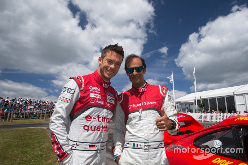Audi-Fahrer André Lotterer und Emanuele Pirro