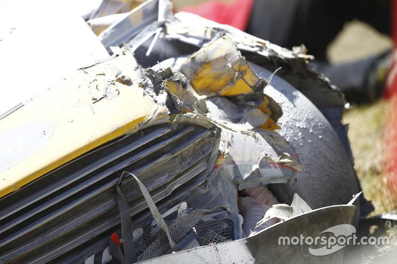 Kerusakan di mobil David Gilliland, Front Row Motorsports Ford