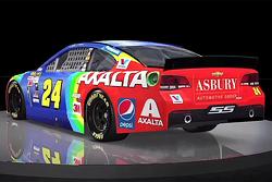 Jeff Gordon con esquema de pintura del arco iris regresa a la carrera de Bristol