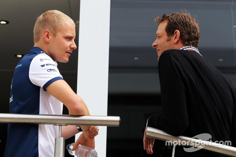 Valtteri Bottas, Williams bersama Alex Wurz, Williams Driver Mentor / Chairman GPDA.