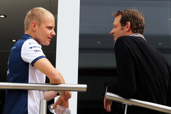 Valtteri Bottas, Williams, mit Alex Wurz, Williams-Fahrercoach/GPDA-Direktor