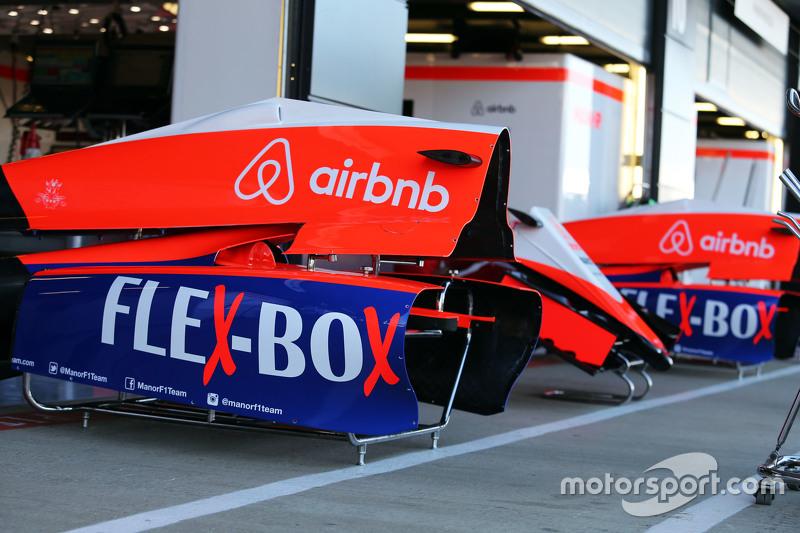 Manor F1 Team engine covers
