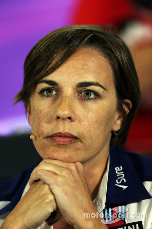 Claire Williams, Teamchef-Stellvertreterin, Williams, in der FIA-Pressekonferenz