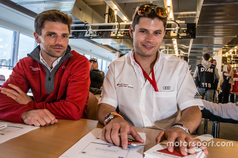 Phoenix Racing: Christian Mamerow and Audi Sport Team WRT: Pierre Kaffer