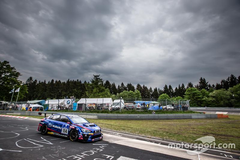 #114 Subaru Tecnica International, Subaru WRX STI: Carlo van Dam, Kota Sasaki, Tim Schrick, Marcel Lasée