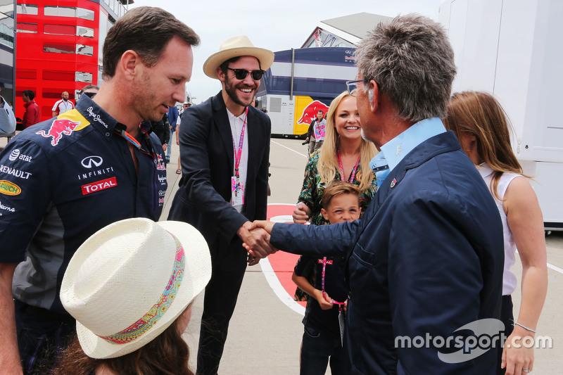 Крістіан Хорнер, Red Bull Racing Керівник команди з Will Young та Едді Джордан та Emma Bunton та Geri Halliwell