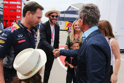 Christian Horner, Red Bull Racing Team Principal with Will Young and Eddie Jordan and Emma Bunton and Geri Halliwell