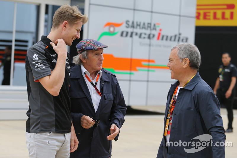 Nico Hülkenberg, Sahara Force India F1, Sir Jackie Stewart und Sir Martin Sorrell