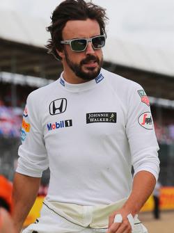 Fernando Alonso, McLaren no grid