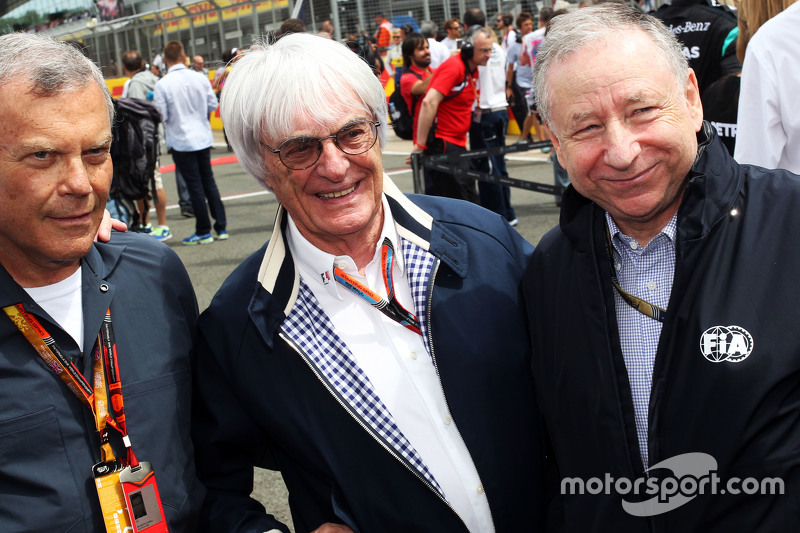 Sir Martin Sorrell, WPP CEO; Bernie Ecclestone, and Jean Todt, FIA President