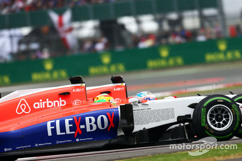 Roberto Merhi, Manor F1 Team, und Teamkollege Will Stevens, Manor F1 Team.