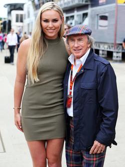 (I a D): Lindsey Vonn, con Jackie Stewart