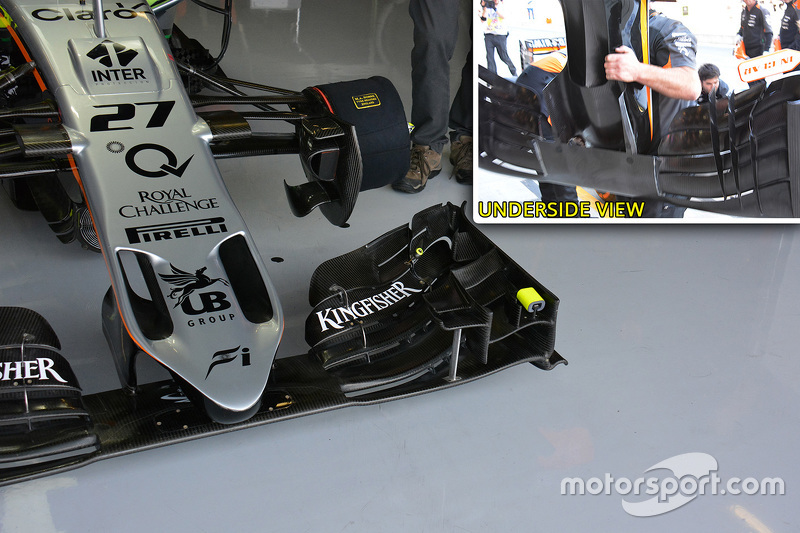 Analisis teknis: Force India new nose