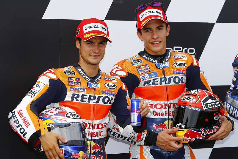 Peringkat kedua qualifier Dani Pedrosa, dan polesitter Marc Marquez, Repsol Honda Team