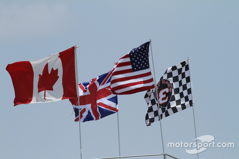 Flags at Canadian Tire Motorsports Park